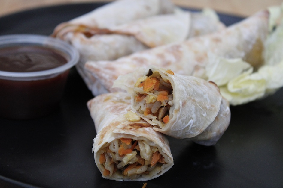 Air Fryer Egg Rolls with Sweet & Spicy Chili Sauce