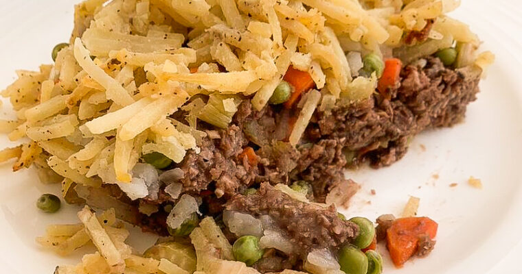 Cheesy Hash Brown & Lentil Shepherd's Pie