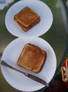 Pie Iron Grilled Cheese