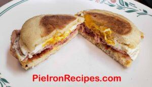 Pie Iron Breakfast Muffin