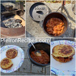 Barbecue Chicken Pie Iron Sandwich