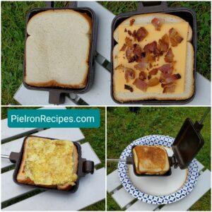 Pie Iron Breakfast Sandwich