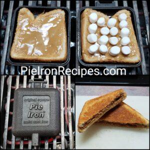 Fluffer Nutter Pie Iron Dessert
