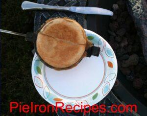 Round Pie Iron Fruit Pie