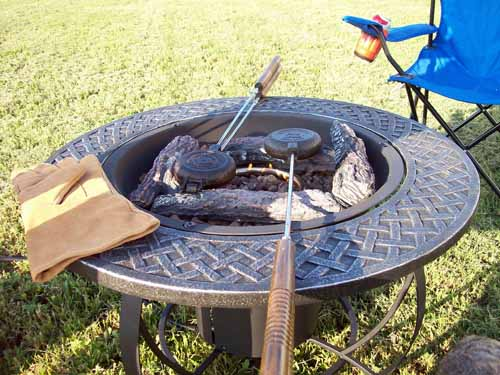 Testing out the New Fire Pit