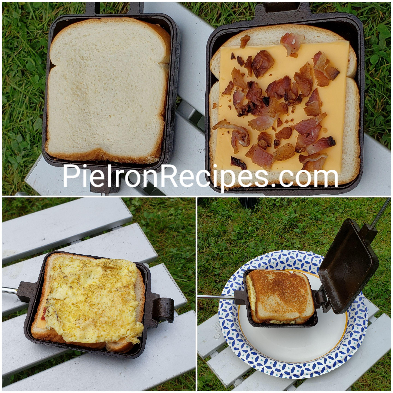 Bacon Egg Cheese Pie Iron Sandwich