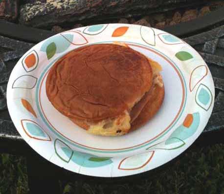 Chicken Cordon Bleu Toaster Sandwich