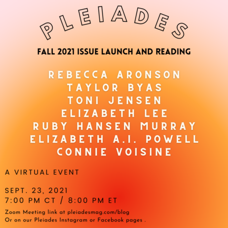 Pleiades Launch Flier with Readers' Names