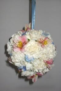 blue wedding flower girl