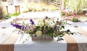 joan fairs floral head table wedding