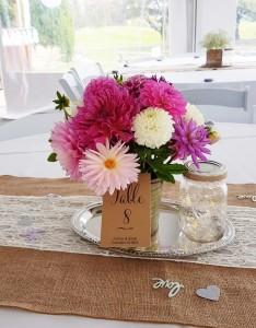 joan fairs floral wedding centerpiece