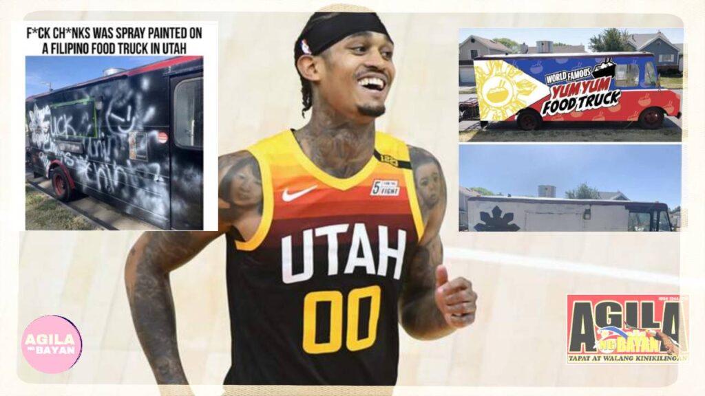 Agad na sumaklolo si Jordan Clarkson ng Utah Jazz sa Filipino owners ng isang Yum Yum Food Truck. Ito'y matapos ma-vandalized ng anti-Asian graffiti
