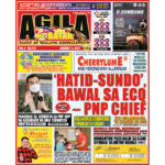 'HATID-SUNDO',  BAWAL SA ECQ – PNP CHIEF