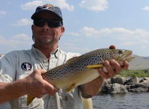 Stuart shows us a healthy Big Hole River brown trout.