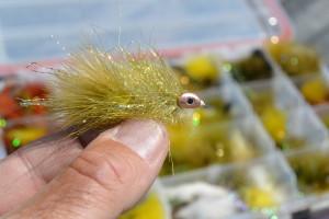 Fish Skull Sparkle Minnow streamer fly