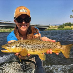 The Misses with a dandy Madison River brown.