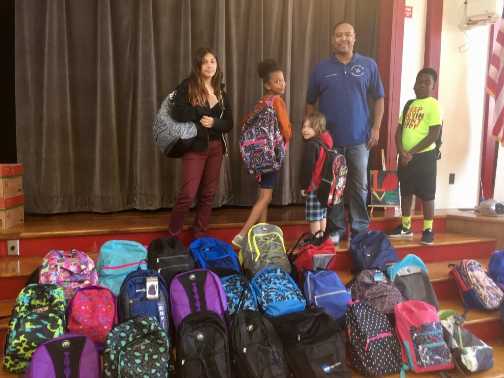 2017 Back Pack Donation Kashmere Elementary