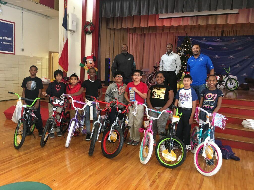 Bike Donations Kashmere Elementary 2017