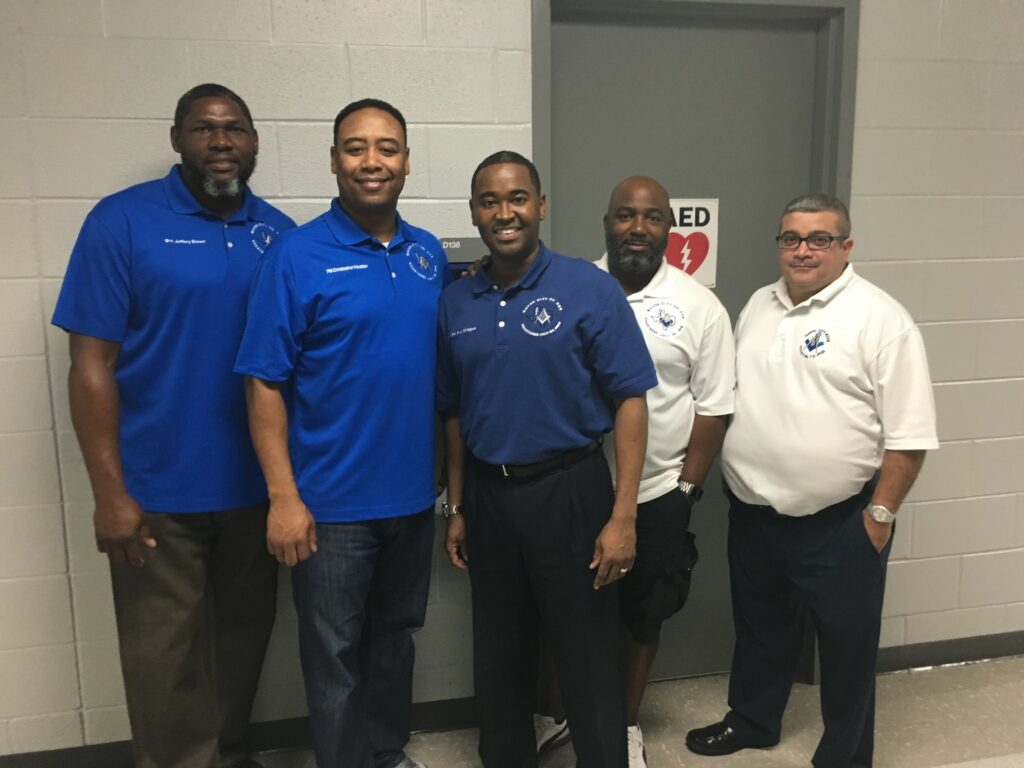 Brothers of Bayou City out Supporting the District Free Sports Physicals