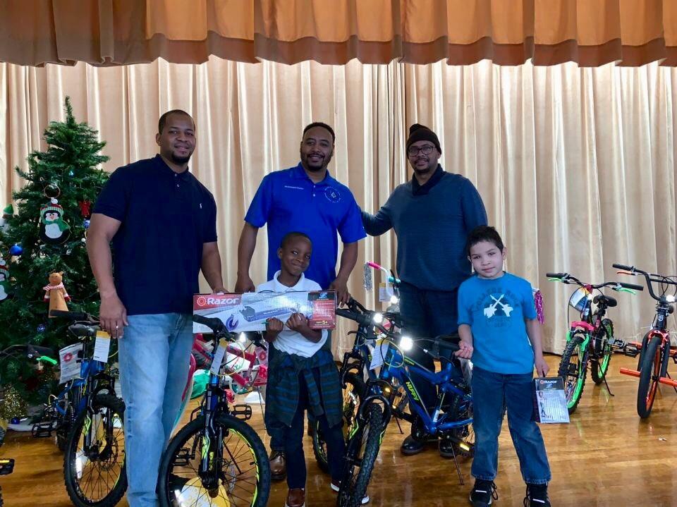 2018 Bike Donation Kashmere Elementary (Bro. Kearney, WM Houston & Principal Collins)