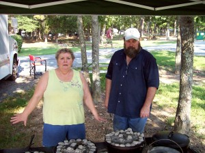 Michael and Diane Cooking