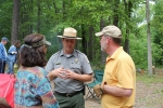 Dan and Katherine with Park Manager