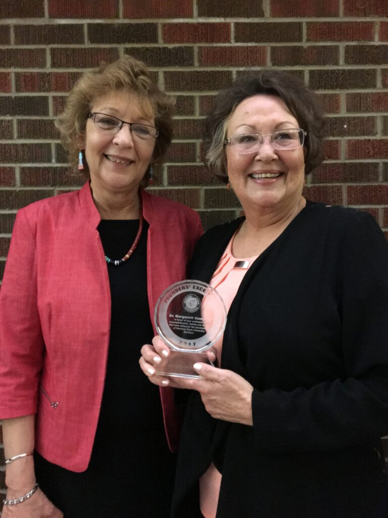 2017 Founders' Excellence Winners Gail Rader and Margarett Campbell