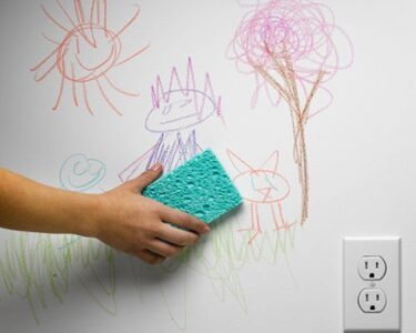 CLEAN WALL MARKS USING NON-TOXIC CLEANERS