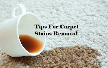 Remove coffee stain on carpet