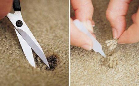 REPAIR BURNT CARPET