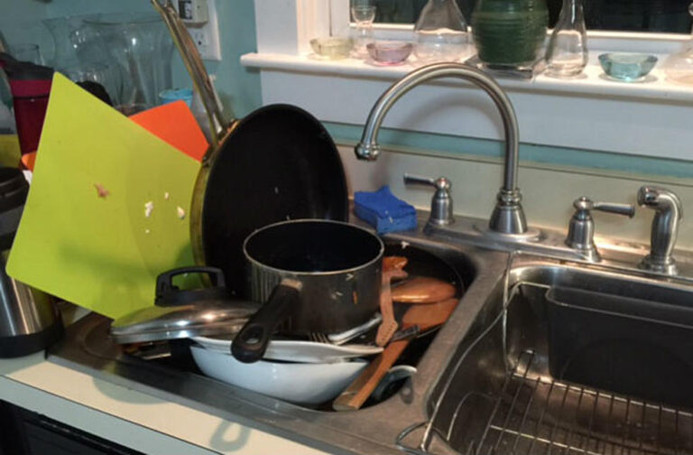 dishes in the sink can overwhelm us!