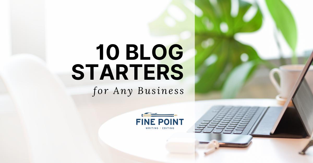 Blog Starters