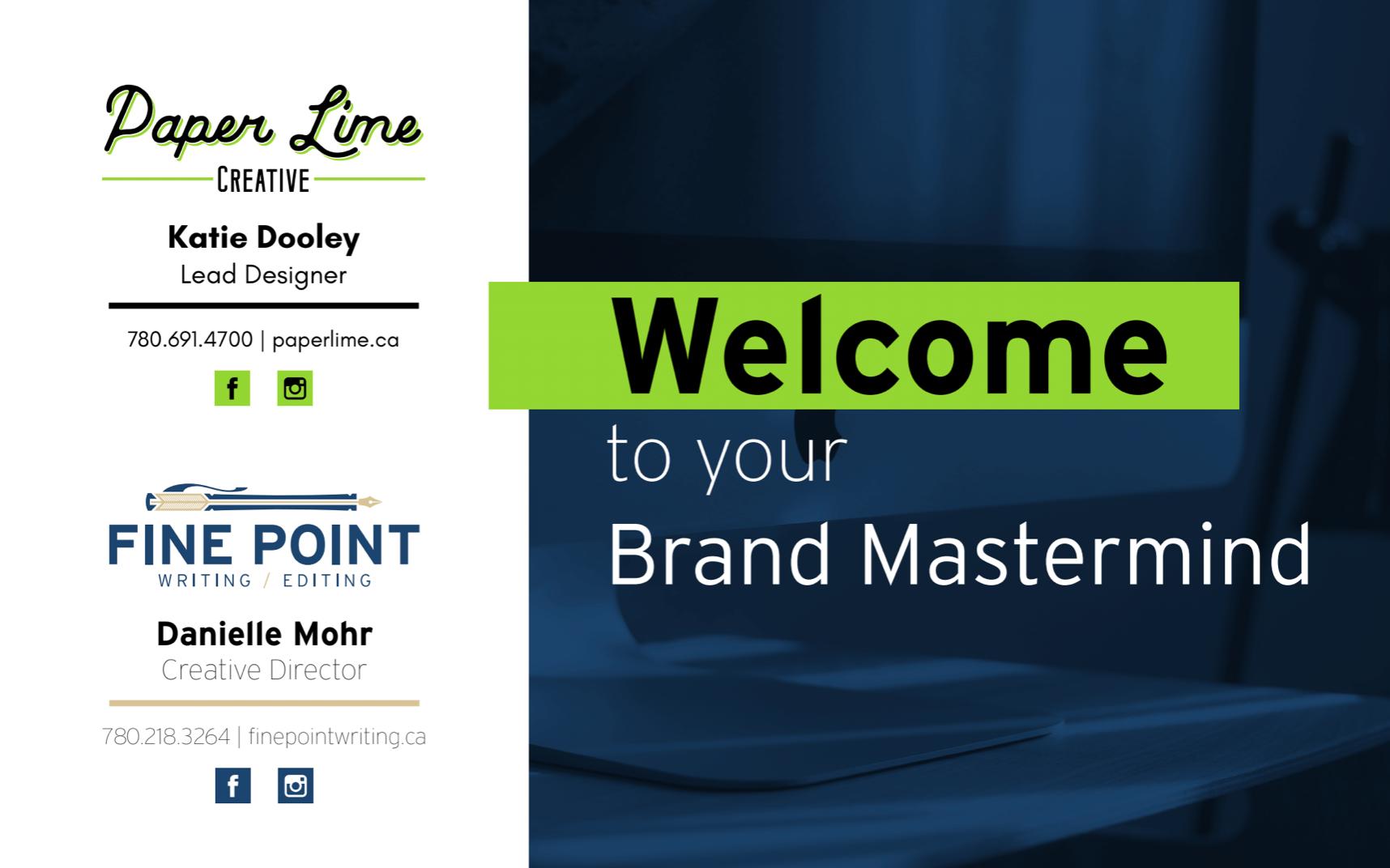 brand mastermind workshop presentation page
