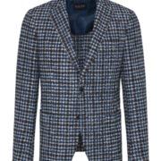 Digel-la-veste-blazer-ajustee-motif-a-petits-quadrilles-bleu-et-marron-1