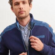 saintjames-cardigan-bleu-zippe-et-details-contrastes-avec-surpiqures-3