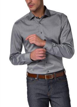 eterna-la-chemise-grise-cintree-mettant-en-valeur-votre-silhouette