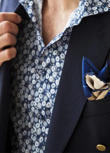 stenstroms-la-chemise-classique-oxford-motif-de-fleurs-imprime-marine-beige-et-blanc