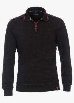 casa-moda-des-chandails-legers-et-essentiels-au-look-sportif-avec-fermoir-au-col-en-noir-ou-en-rouge