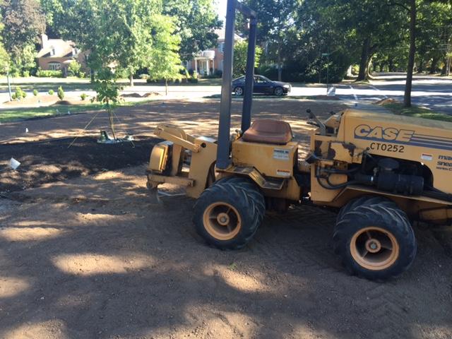 installing irrigation system