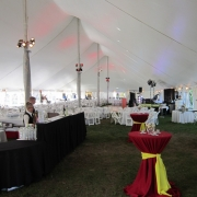Inside tent decor