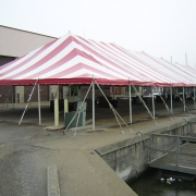 Red And White Striped Carnival Tent
