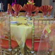 Organza Chair Ties, Orange Chiavari Seat Covers