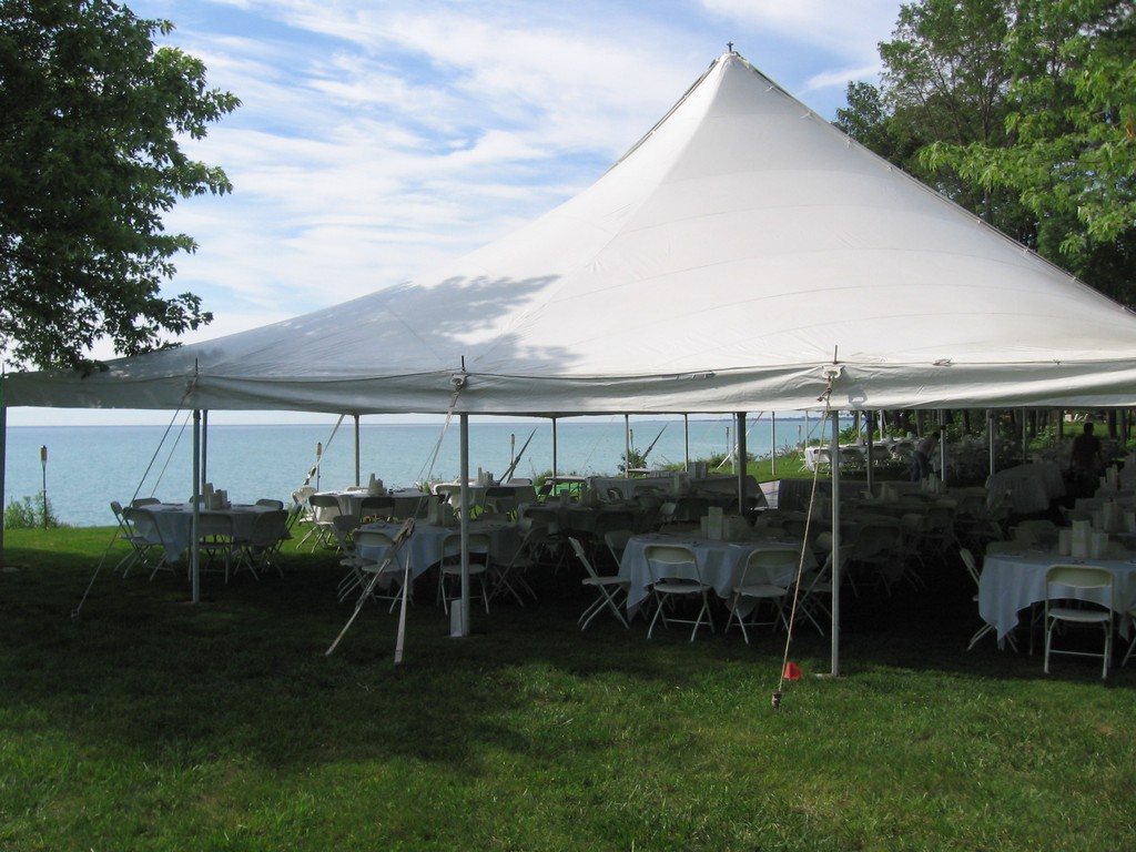 Tents in Racine and Kenosha
