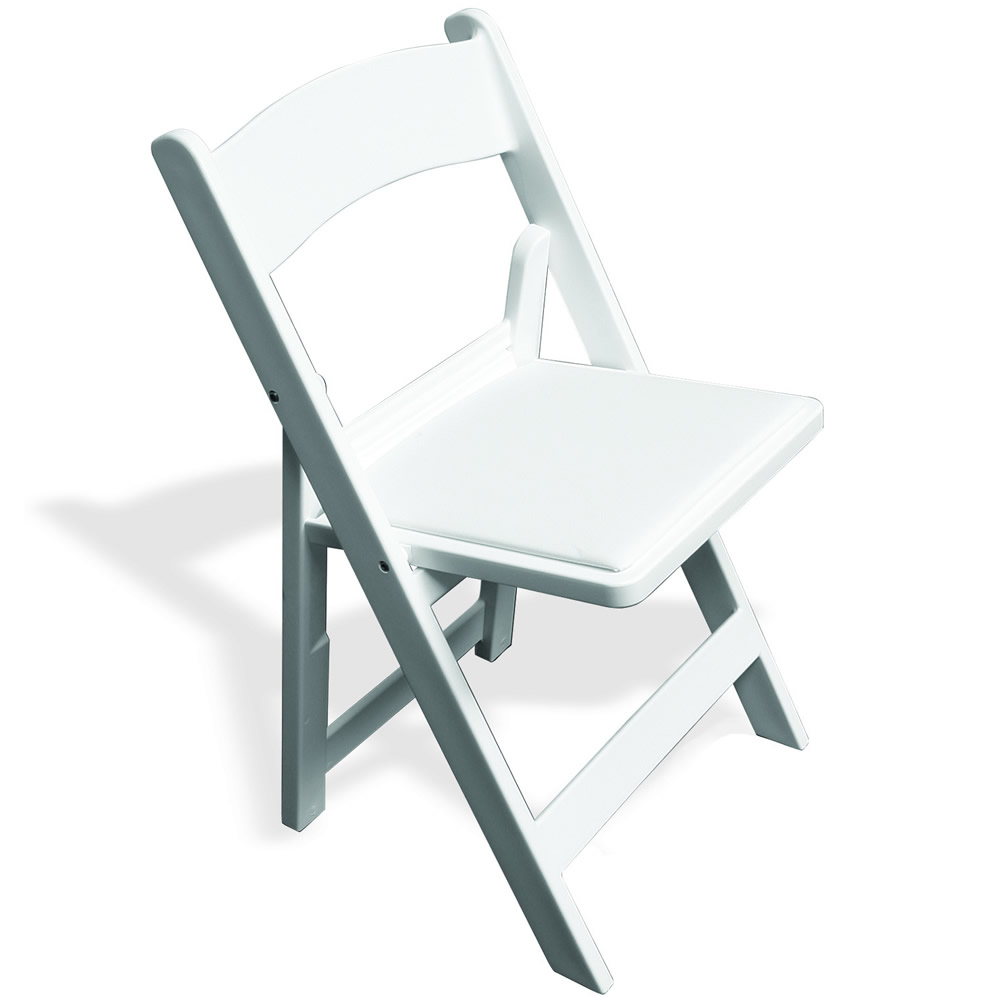 White Resin with Padded Seat