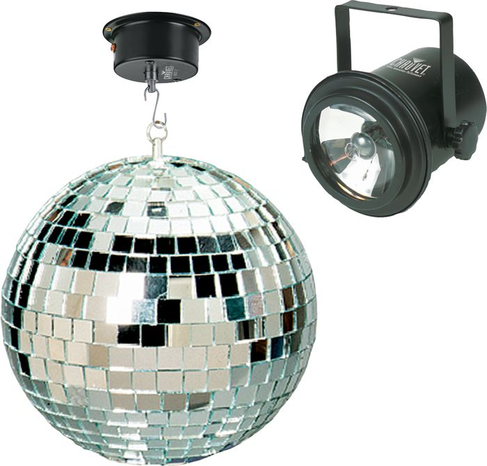 Mirror Ball with 2 Pin Spots