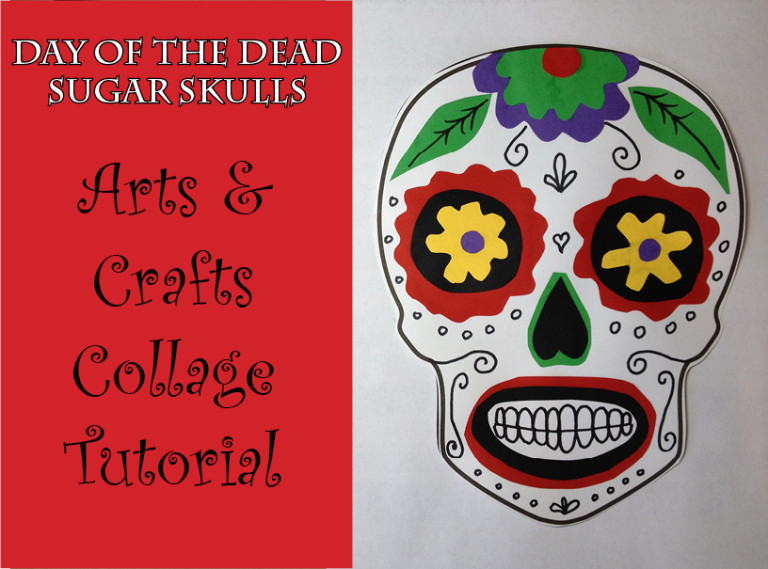 sugar skull collage craft tutorial