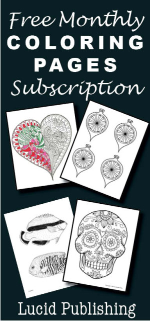 free coloring pages subscription