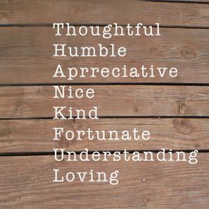 Thankful Acronym