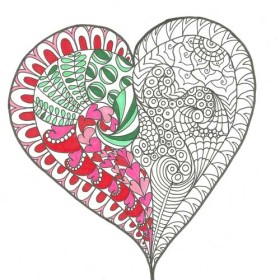 Free Zentangle Inspired Coloring Pages