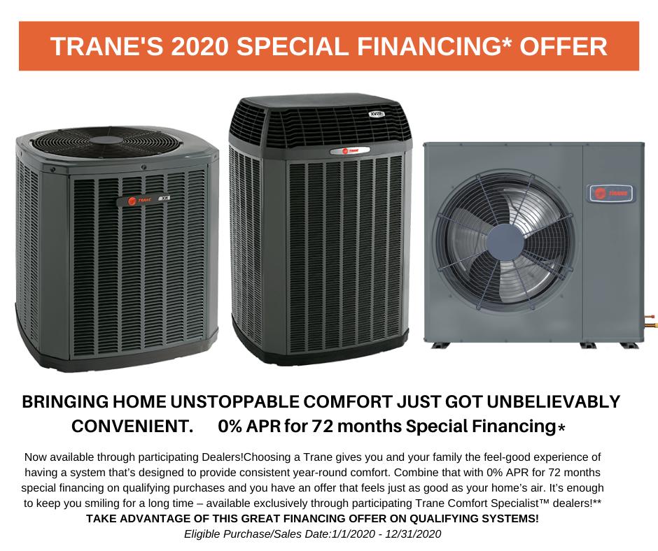 Trane Special Financing 2020